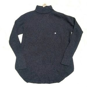 NEW American Eagle charcoal mock neck sweater s